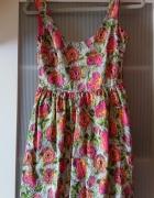 Zara kolorowa sukienka