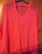 Bluzeczka C&A z szyfonowymi wstawkami Hot Pink 52