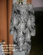 sukienka z rękawkami mgiełka