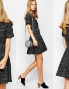 sukienka z perełkami casual styl