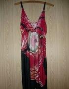 Czerwona sukienka letnia S M