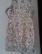 Asos bogato zdobiona kamieniami sukienka 34 sheri