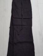 Czarne lniane spodnie H&M L