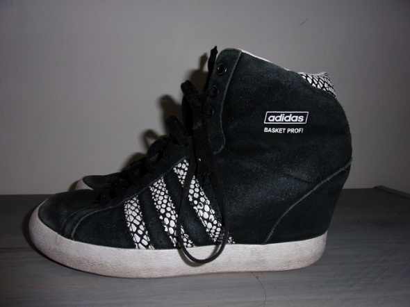 Sportowe adidas basket profi up czarne 38