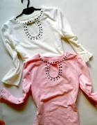dwie nowe bluzki cwieki pastele