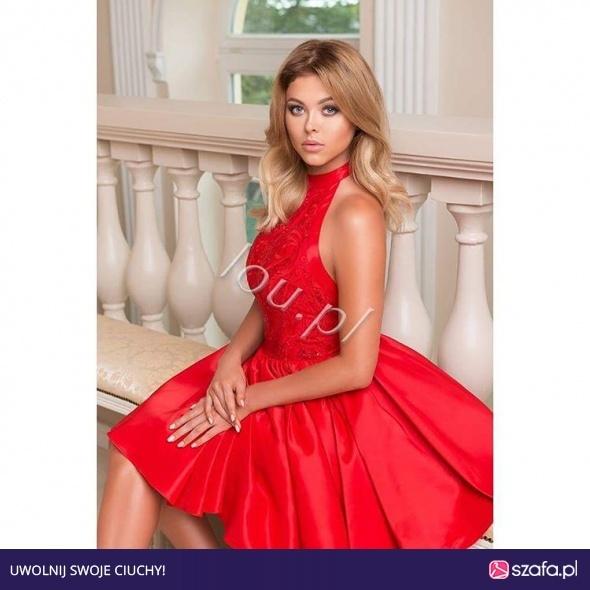 cd79ed0fd6 Suknie i sukienki lou kylie czerwona sukienka rozkloszowana wesele L