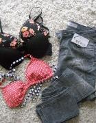 Pakiet markowe Jeansy i Staniki NOWE