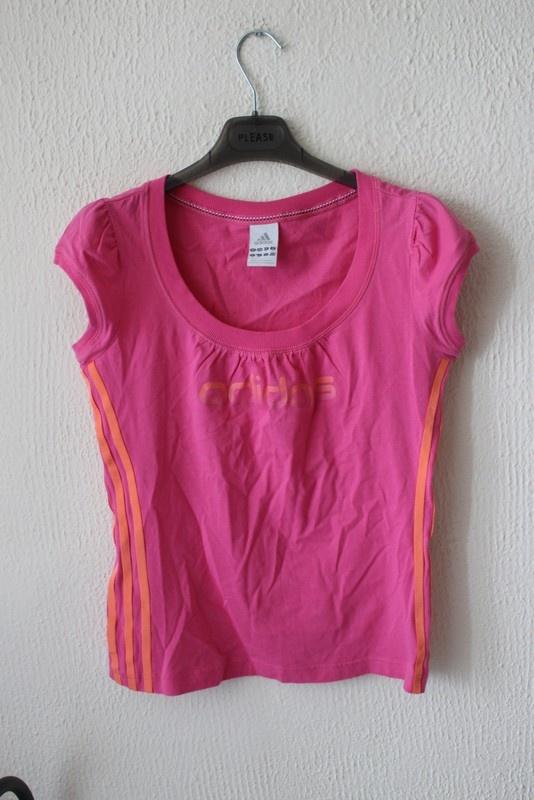T-shirt różowa koszulka adidas M L