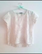 Piękna koronkowa biała bluzka oversize C&A