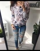 Piękna floral kwiecista bluza
