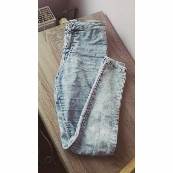 Spodnie rurki z wysokim stanem bershka XS