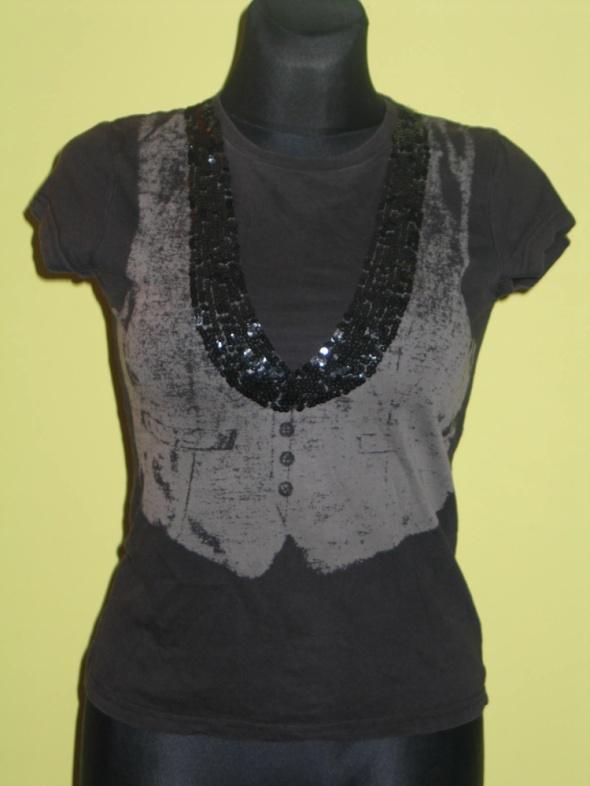 Koszulki czarna koszulka New Look rozmiar 38