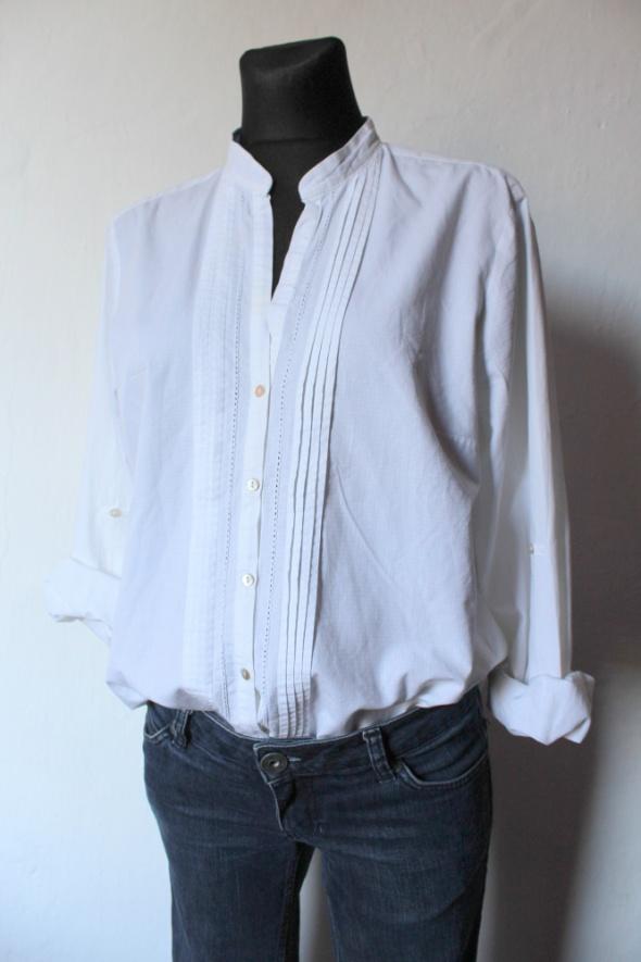 Koszule Biała elegancka koszula Zara r L