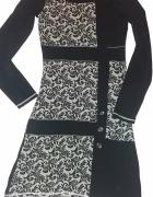 Czarna sukienka Anna Field 34 kwiaty XS