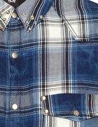 Koszula w kratę H&M ze złotymi zatrzaskami