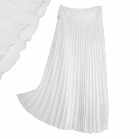 Spódnice Piękna biała spódnica plisowana SIMPLE
