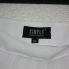 Piękna biała spódnica plisowana SIMPLE