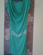 Zielona sukienka tuba