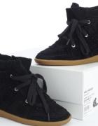Botki sneakersy wzór Isabel Marant bobby zamsz 36