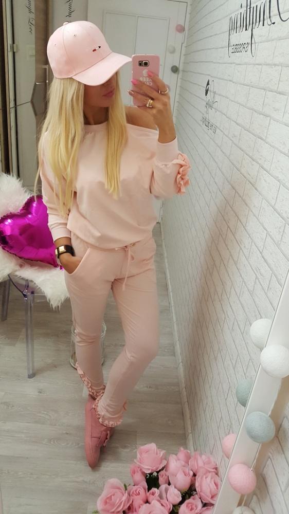Codzienne dresik różowy dres pink flbanka ramię r uniwersaln