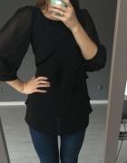 Czarna szyfonowa bluzka Orsay wizytowa