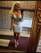 Sexy cielista sukienka z kamieniami nowa z metka