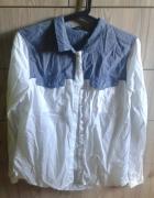 biało dzinsowa koszula marki Reserved
