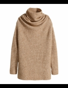 Moherowy sweter beżowy oversize H&M...