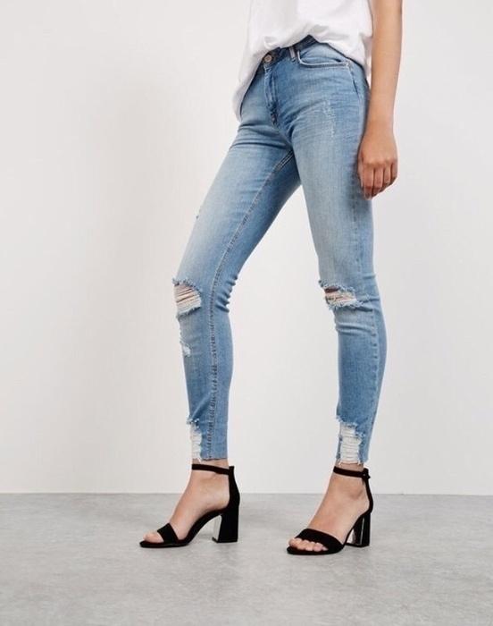 jeansy bershka dziury przetarcia...