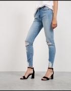 jeansy bershka dziury przetarcia