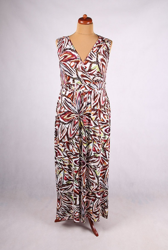 f784bddc8c MAXI SUKIENKA W KWIATY FLORA VINTAGE ETNO 48 50 w Suknie i sukienki ...