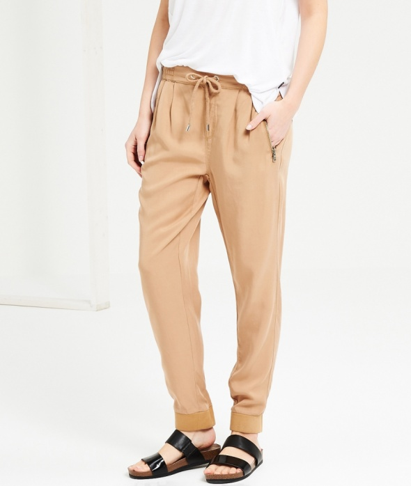 Spodnie Beżowe RESERVED Ściągacz ZIP