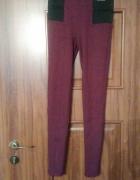 Śliwkowe legginsy