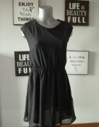 czarna krótka sukienka C&A r L...