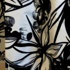 Cudna czarnobiała spódnica w kwiaty s m