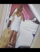 sukienka koronkwa biała S
