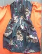 sukienka rozkloszowana kwiaty