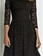 Czarna błyszcząca sukienka orsay sylwester wesele...