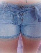 Jeansowe spodenki szorty BERSHKA pozłacane NOWE