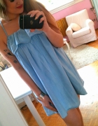 Jeansowa sukienka hiszpanka falbanka XS Next
