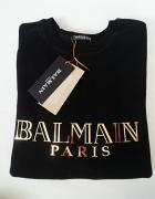 Bluza BALMAIN PARIS złoty nadruk L