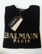 Bluza BALMAIN Paris czarna złoty nadruk