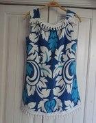 Niebiesko biała sukienka
