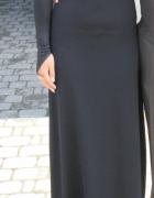 Długa Sexowna Sukienka Bez Pleców
