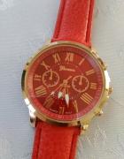 Geneva czerwony zegarek