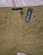 River Island spodnie panterka XS wysoki stan skinn