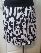 Wizytowa spódnica CAMAIEU bialo czarna roz 40