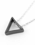 Srebrny naszyjnik trójkąt 3D