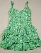 Letnia zielona sukienka lub tunika