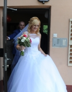 piękna suknia ślubna princeska tiulowa...